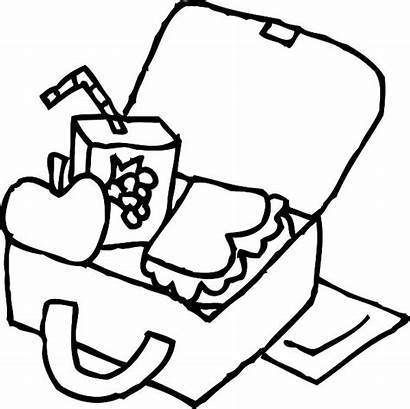 Lunch Coloring Box Colouring Pages Lunchbox Clipart