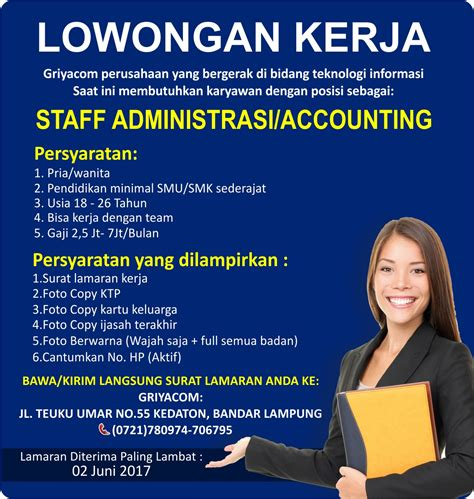 lowongan bank bri lampung lowongan kerja indonesia