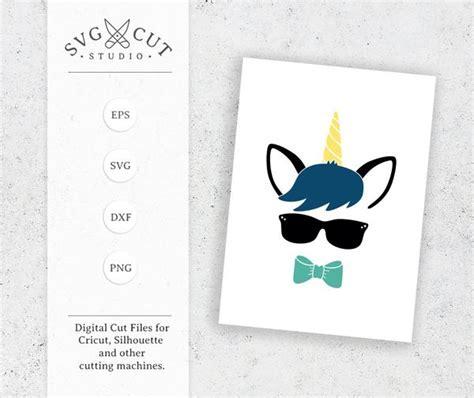 unicorn boy svg cut files  cricut  silhouette svg