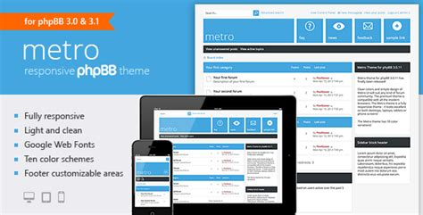 Forum Theme Metro A Responsive Theme For Phpbb3 By Pixelgoose