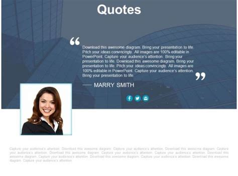 quote  business information  introduction powerpoint  templates powerpoint