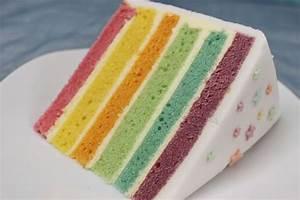Regenbogentorte backen Regenbogenkuchen Rezept mit
