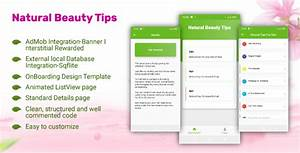 Android Listview Design Templates Download Natural Beauty Tips Flutter App Using Admob