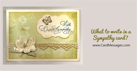 write   sympathy card card messages