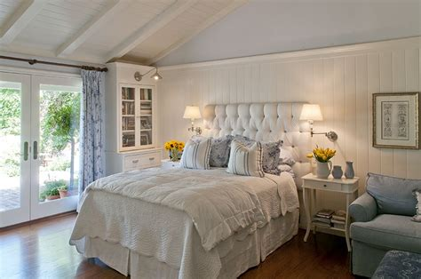 Country Style Bedrooms by Master Bedroom Clean Blue White Country Style