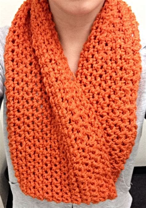 orange single crochet infinity scarf caty pinterest