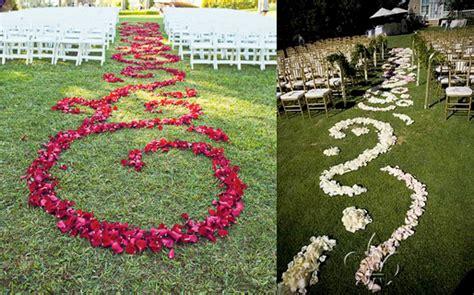 Bashert Weddings Flower Petal Aisle Runners