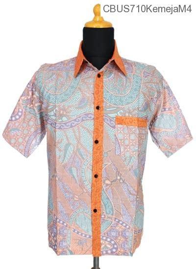 baju batik sarimbit kemeja motif bunga salur kemeja