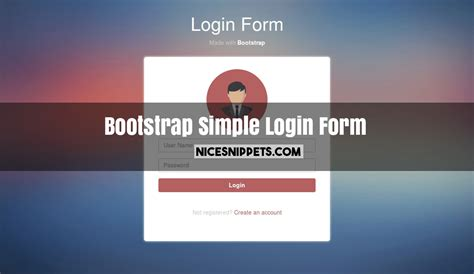 Simple Login Form Design Using Bootstrap
