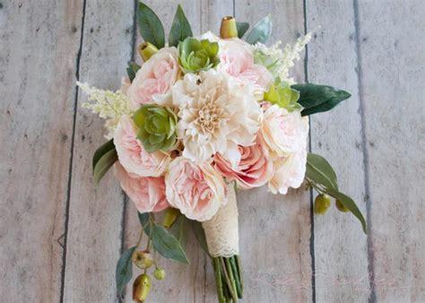 boho garden and dahlia succulent wedding bouquet silk bridal bouquet 2635613 weddbook