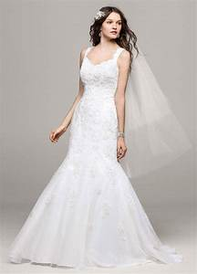 david39s bridal tank tulle trumpet wedding dress with lace With tank wedding dress