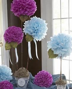 Fleur En Papier De Soie : fabriquer une fleur en papier de soie 67 id es diy ~ Nature-et-papiers.com Idées de Décoration