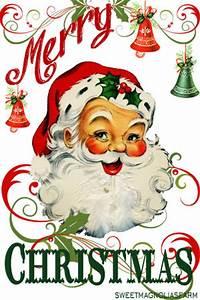 Sweet Magnolias Farm: Merry Christmas Santa Clip Art Image ...