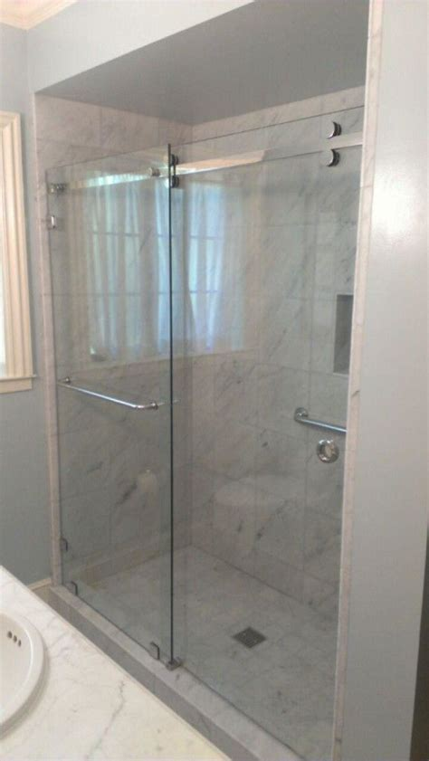 Tempered Glass Shower Doors Frameless by Crl S Serentiy Series Glass Shower Enclosure With 3 8