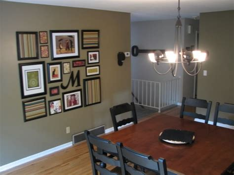 wall arrangement and paint color behr mississippi mud