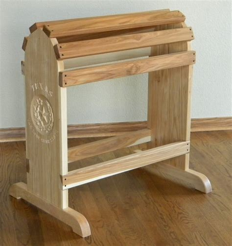 hand crafted furniture quality saddle rack  north texas