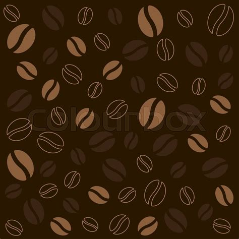 The coffee bean on dark brown background. Food and drink texture   Stock Vector   Colourbox