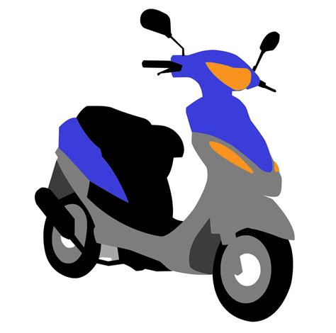 Scooter clipart motor vehicle, Scooter motor vehicle ...