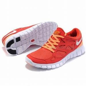 Nike Free Run+ 2 Womens Running Shoes Orange Yellow On ...