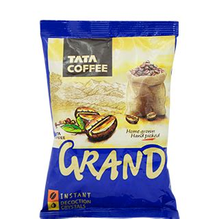 (tatacoffee.bo) stock quote, history, news and other vital information to help you with your stock trading and estimated return represents the projected annual return you might expect after purchasing shares in the company and holding them over the default. Tata Grand Instant Coffee Pouch 50 g - Buy Online