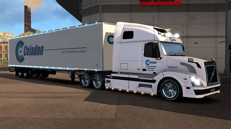 volvo trailer for dc celadon volvo vnl 670 american trailer skin pack 01