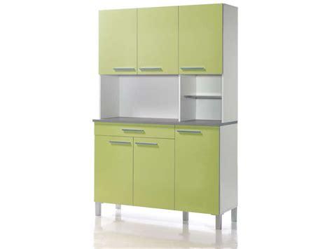 petit buffet de cuisine buffet de cuisine 120 cm debora coloris blanc vert acide