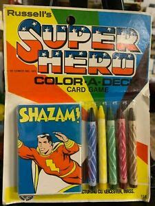 More superheroes soon joined the superhero shazam in carrying on the legacy of the wizard shazam, including shazam family members mary marvel and captain marvel jr. Rare Vintage 1977 DC Comics Shazam! Card Game MOC MIP NRFB Comics   eBay