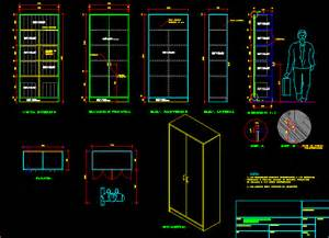 metal cabinet in autocad drawing bibliocad