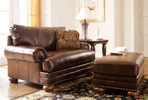 Antique Leather Loveseat by Antique Leather Sofa Traditional Living Room Furniture Set