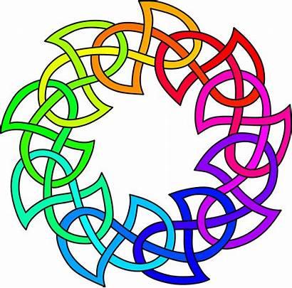 Knot Clipart Celtic Rainbow Background Transparent Colour