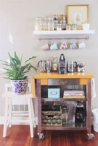 Townhouse Update {New Coffee Cart} - The Inspired Room