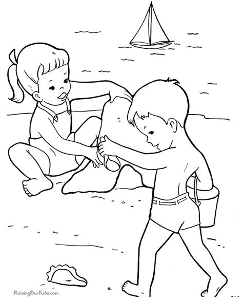summer beach coloring pages coloring home
