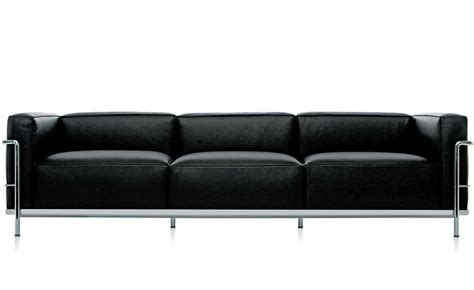 Le Corbusier Loveseat by Le Corbusier Lc3 Three Seat Sofa Hivemodern