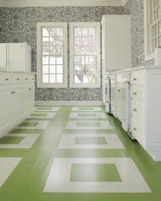 Painted Floor Stencil Linoleum