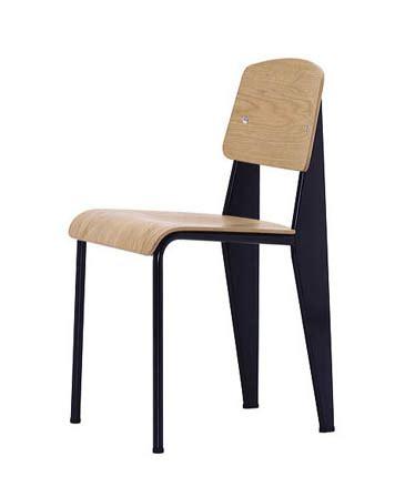 vitra standard chair black jean prouv 233 chairs nova68 modern design