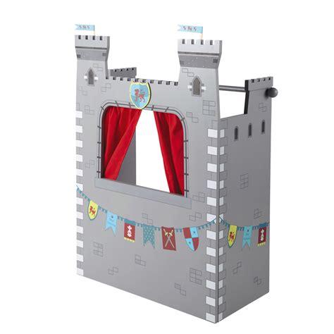 rideau chambre bébé garçon théâtre de marionnettes pour enfants chevalier maisons