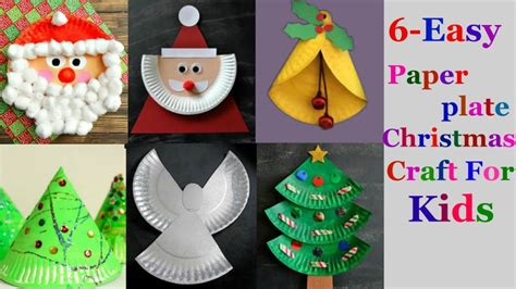 easy paper plate christmas craft ideas  kids part
