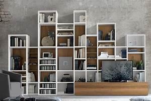 Libreria A037 Moderna Con Scaffali Modulari