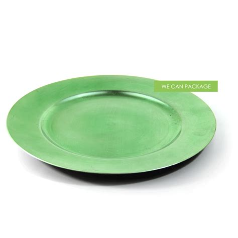 Apple Green Charger Plate   Cheap Charger Plates   Wedding Plates