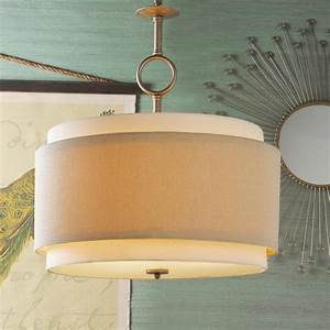 Double drum pendant large lighting by shades