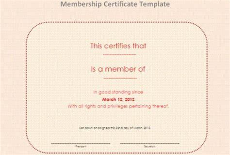 membership certificate templates word psd