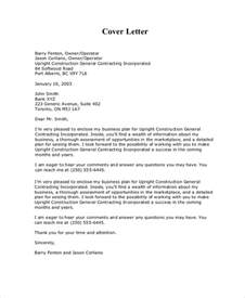 Business Plan Cover Letter Sle Business Cover Letter 7 Documents In Pdf Word