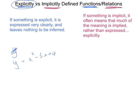 lesson   explicit functions  implicit relations