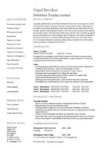 substitute resume skills substitute resume exle template sle teaching pupils education school