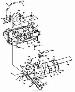 Bunton  Bobcat  Ryan 942233e Zt 225 25hp Kaw W  61 Side Discharge Parts Diagram For Steering  Deck