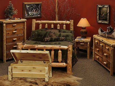 log bedroom furniture furniture rustic cedar log wood bed and chest bench plus Rustic