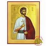Stamatios Byzantine Saint Icon Wooden Nioras Iconographer