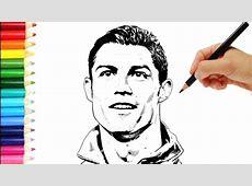 Como dibujar a Cristiano Ronaldo # speed paint Cristiano
