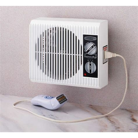 Wall Outlet Fan Space Heater Small Electric Bathroom
