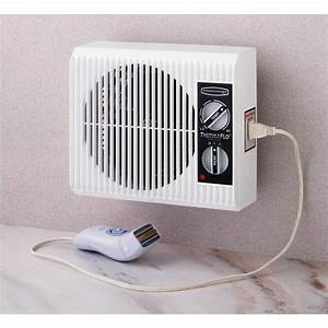 Wall outlet fan space heater small electric bathroom for Space heater for bathroom